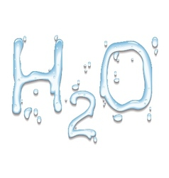 Water with H2O shape vector image
