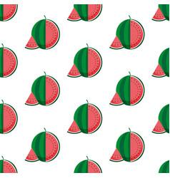 Watermelon pattern vector