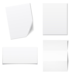 White sheets of paper - set vector