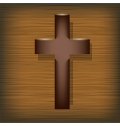 Wood Cross Symbol of Religion vector image vector image
