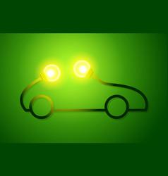 Eco car concept green drive vector