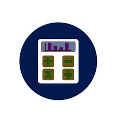 In flat design of calculator vector