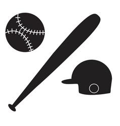 baseball icon on white background baseball sign vector image