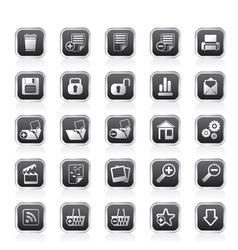 25 simple realistic detailed internet icons vector image vector image