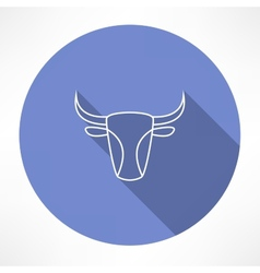 Bulls head icon vector