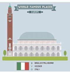Basilica Palladiana vector image