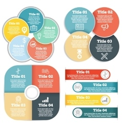 Set of business circle infographic diagram vector