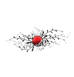 Floral button vector