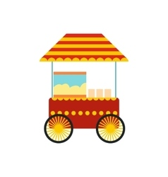 Popcorn cart icon vector
