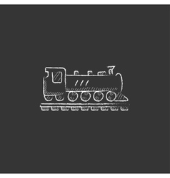 Train drawn in chalk icon vector