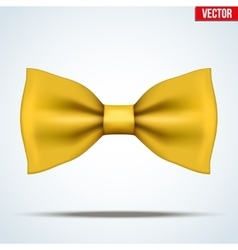 Realistic yellow bow tie vector