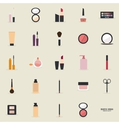 Abstract makeup objects vector