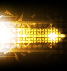 arrow abstract background design vector image