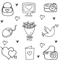 Art of love doodle vector