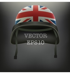 Background of british flag helmet vector