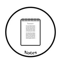 Binder notebook icon vector image vector image