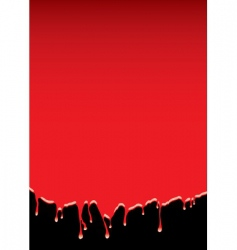 blood dribble background vector image vector image
