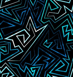 Blue neon seamless pattern vector