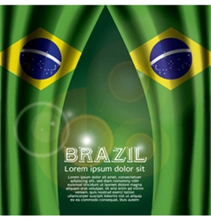 Brazil Flag Curtain vector image