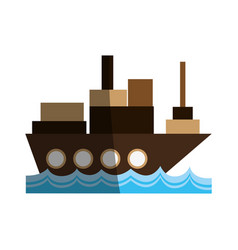 Cargo ship icon imag vector