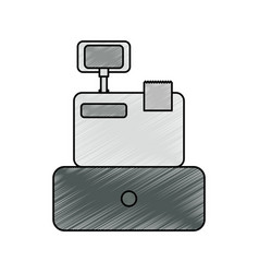 Cash registrer machine vector