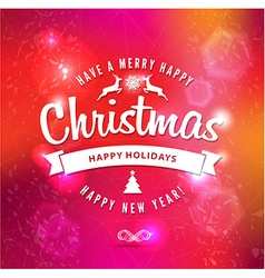 Christmas and happy new year letteringType vector image