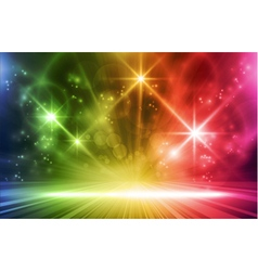 Colorful light show vector image