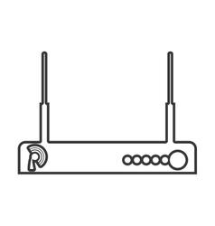 contour color monochrome wireless router vector image