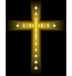 cross of candles vector image vector image