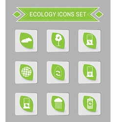 Ecology logo icon set vector image