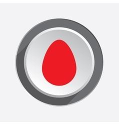 Egg icon Life start begin symbol Red vector image vector image
