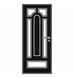 Front door icon in simple style vector