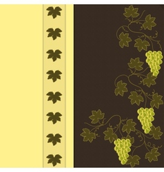 Grape on Brown with Yellow Pattern vector image vector image