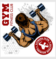 Gym logo fitness center logo design template vector
