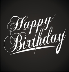 Happy birthday hand lettering vector