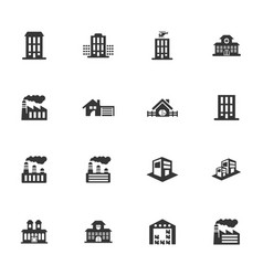 Infrastructure city icons set vector