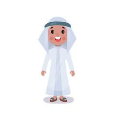 little boy wearing traditional costume of saudi vector image vector image