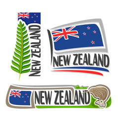 logo new zealand vector image vector image