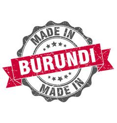 Made in burundi round seal vector