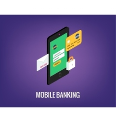 Mobile banking with user vector