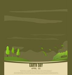 Print design for earth day country landscape vector