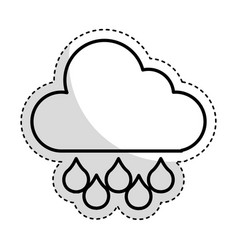 rain weather isolated icon vector image vector image