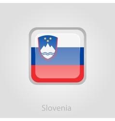 Slovenian flag button vector