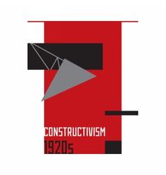 Soviet constructivism abstract 1920s vector