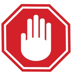 Stop gesture sign vector image