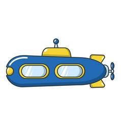 submarine retro icon cartoon style vector image vector image