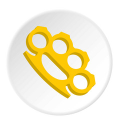 Yellow knuckles icon circle vector