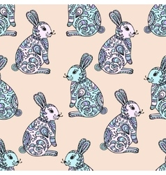 Tribal designed bunny vector