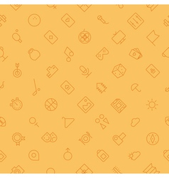 Seamless background pattern for leisure sport vector