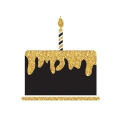 Birthday cake flat web icon vector
